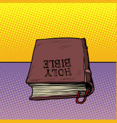 holy bible book christianity and religion vector image