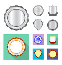 Isolated object emblem and badge icon set of vector