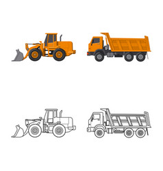 isolated object of build and construction symbol vector image