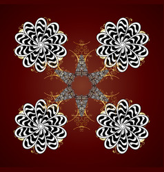 Isolated watercolor snowflakes on red background vector