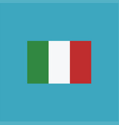 italy flag icon in flat design vector image
