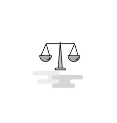 Justice web icon flat line filled gray icon vector