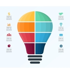 Light bulb infographic Template for air vector