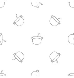 magic cauldron pattern seamless vector image