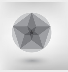 minimalistic style design golden ratio futuristic vector image