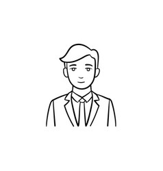 Mobile company ceo hand drawn sketch icon vector