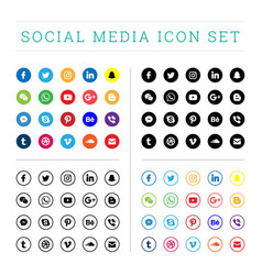 Modern flat social media icons sets vector