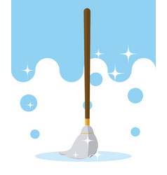 Mop cleaning product vector