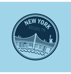 new york city design vector image