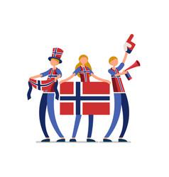 Norwegian flag norway people vector