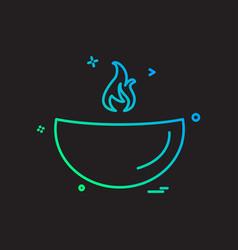 oil lamp icon design vector image