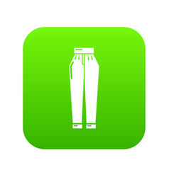 Pant icon green vector