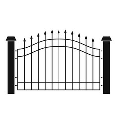 Park fence icon simple style vector