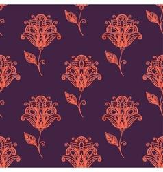 Persian paisley seamless pattern vector