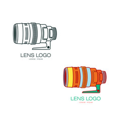 photo camera lens icon isolated vector image