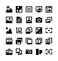 Photos and Images Icons 2 vector