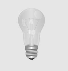 Realitic lamp bulb isolated on grey background in vector