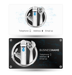 repair of plumbing business card vector image