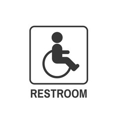 Restroom symbol for disability people in public vector
