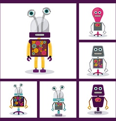 Robot design vector image
