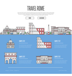 Rome city travel vacation guide vector