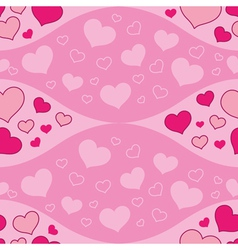 seamless waves and hearts vector image