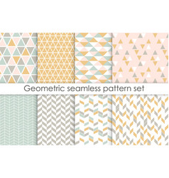set of abstract seamless patterns collection vector image