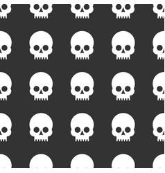 Skulls seamless pattern vector