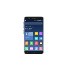 smartphone unlocked with apps vector image