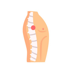 Spine injury pain cartoon o vector