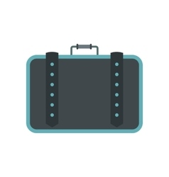 Suitcase for travalling flat icon vector image
