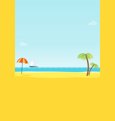 summer tropical sea beach background vector image