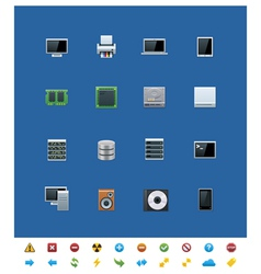 Technological icons vector