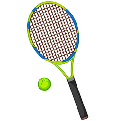 Tennis racquet with ball isolated vector