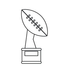 Trophy winner ball shape american football outline vector