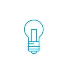 tungsten lamp linear icon concept tungsten lamp vector image
