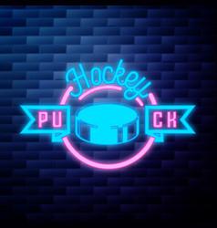 Vintage hockey emblem vector