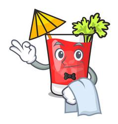 Waiter bloody mary mascot cartoon vector