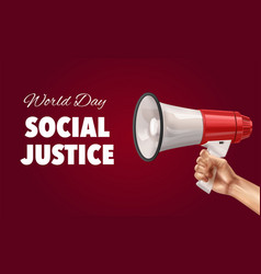 World day social justice background vector