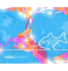Creative fishing Art template vector image