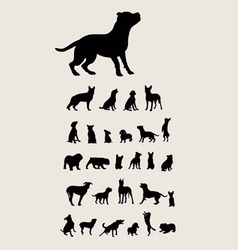 Dog set silhouette vector