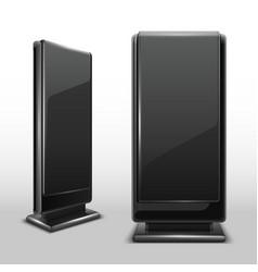 outdoor lcd digital display standing screen vector image vector image
