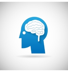 Power of intelligent symbol head with brain vector