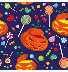 seamless halloween candy vector image vector image