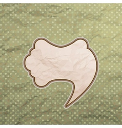 Vintage speech bubble design vector image