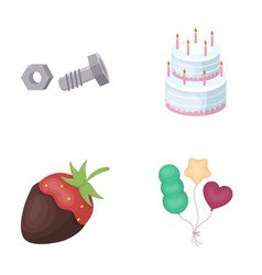 building dessert and other web icon in cartoon vector image vector image