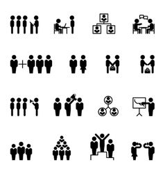 Business and management icons HR vector image vector image