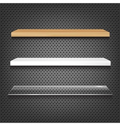 Different Shelves vector image vector image