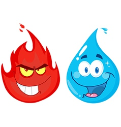 Flame And Water vector image