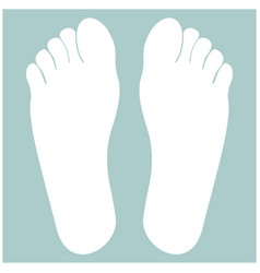 footprint heel the white color icon vector image vector image